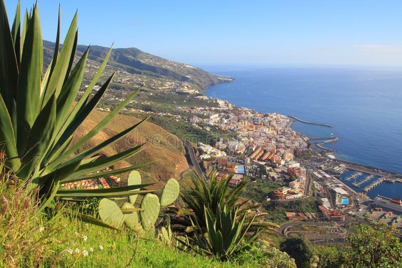 Vista no La Palma Canarias, Espanha, Europa fotos de stock royalty free