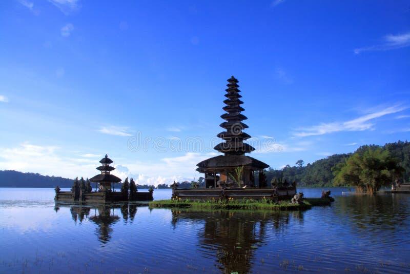 Vista no lago Bali Batur imagem de stock royalty free