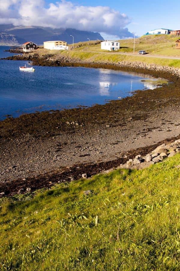 Vista no louro em Djupivogur - Islândia fotografia de stock royalty free