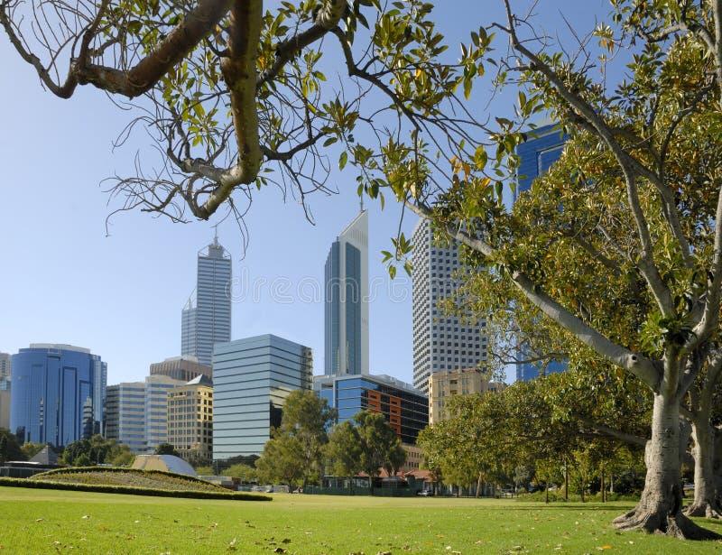 Vista no Midtown Perth fotos de stock royalty free