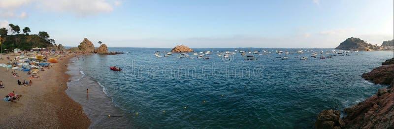 Vista no oceano foto de stock