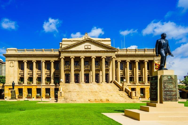 Vista no parlamento velho que constrói Colombo, Sri Lanka foto de stock royalty free