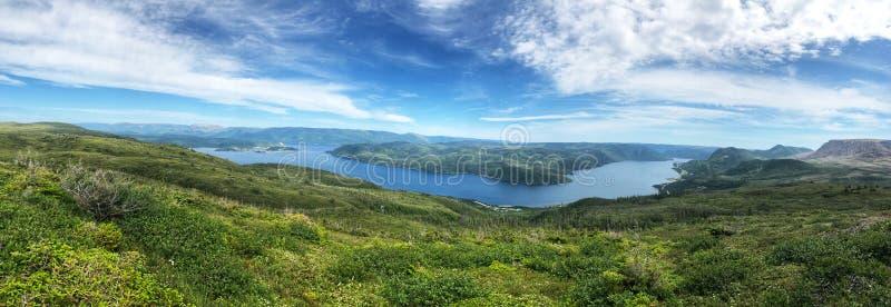 Vista no Parque Nacional Gros Morne imagem de stock