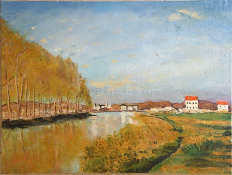 Vista no Seine - o Claude Monet fotografia de stock