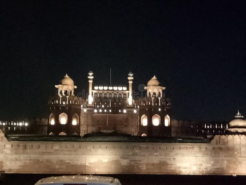 Vista nocturna roja del vado fotografía de archivo libre de regalías