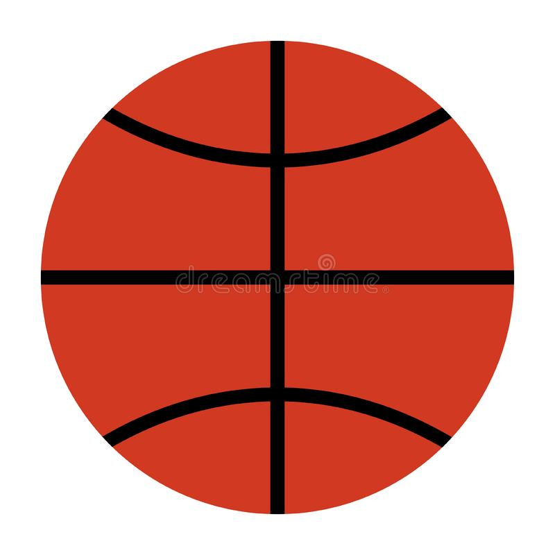 Vista normale della palla di pallacanestro dalla cima illustrazione di stock