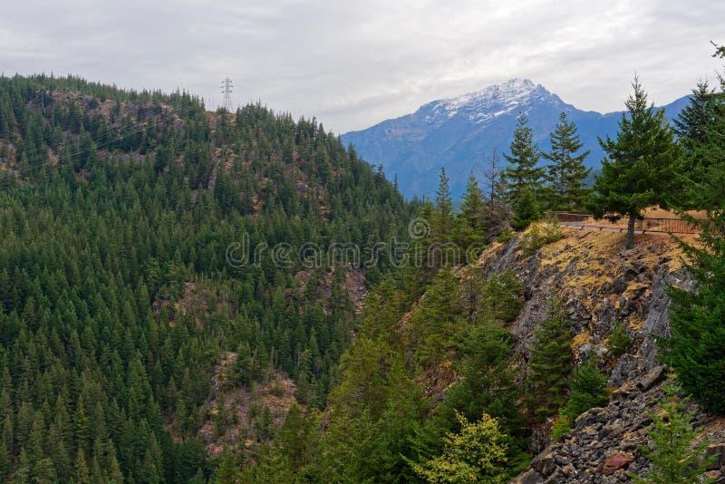 Vista norte das cascatas foto de stock