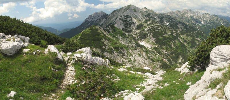 Vista norte do parque nacional de Vogel - de Triglav foto de stock