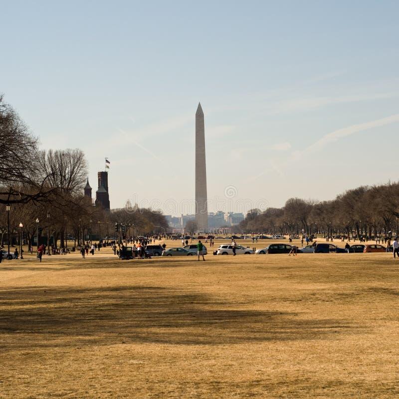 Vista norte em Washington Monument fotos de stock