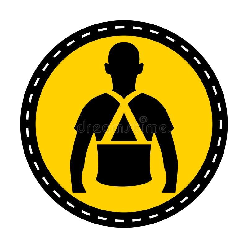 Vista o isolado traseiro do sinal do símbolo do apoio no fundo branco, ilustração do vetor ilustração do vetor