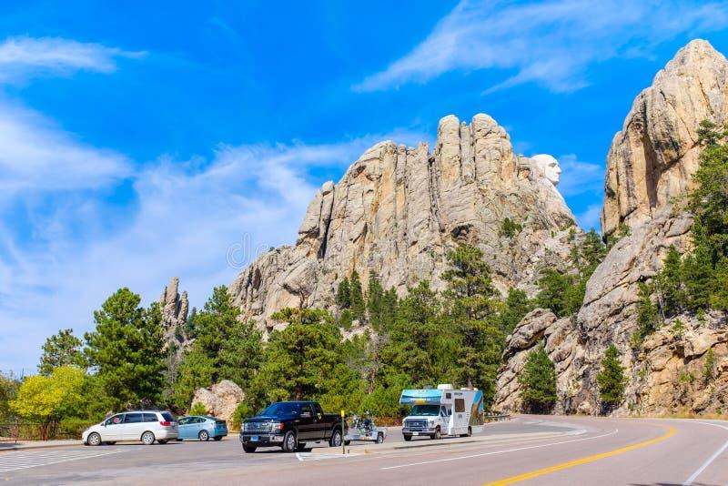 Vista od o memorial nacional do Monte Rushmore foto de stock