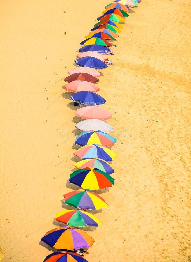 vista ombrello dall'alto fotografie stock libere da diritti