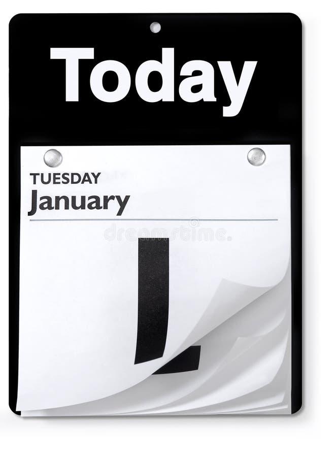 Vista ortografica del calendario di giorno fotografie stock
