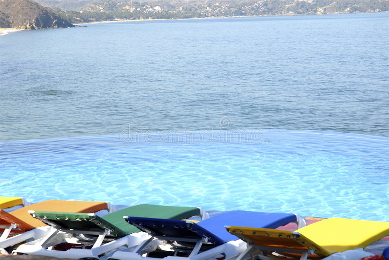 Vista pacifica messicana della spiaggia fotografie stock