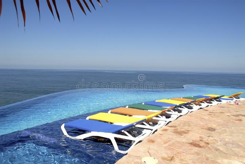 Vista pacifica messicana della spiaggia immagini stock libere da diritti