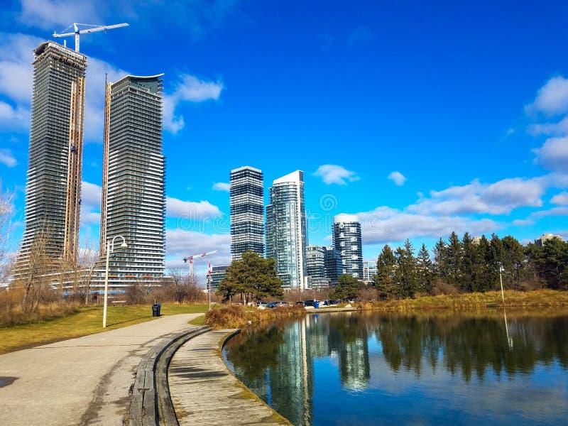 Vista paesaggistica di Condo in Canada immagini stock