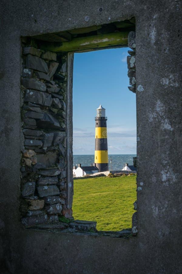 Vista pagina del punto Lighhouse di St John fotografia stock
