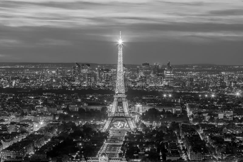 Vista panorámica aérea del horizonte de París, Francia imágenes de archivo libres de regalías