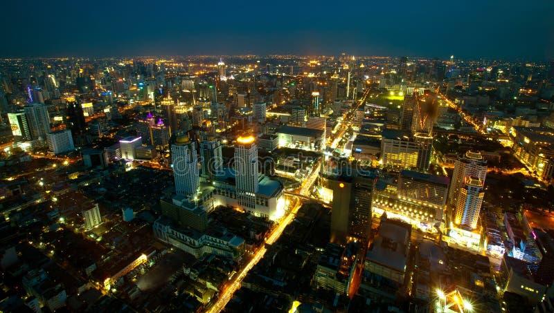 Vista panorámica de Bangkok imagen de archivo libre de regalías