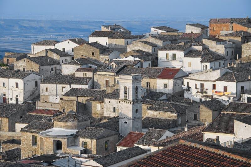 Vista panorámica de Bovino. Apulia. Italia. foto de archivo libre de regalías