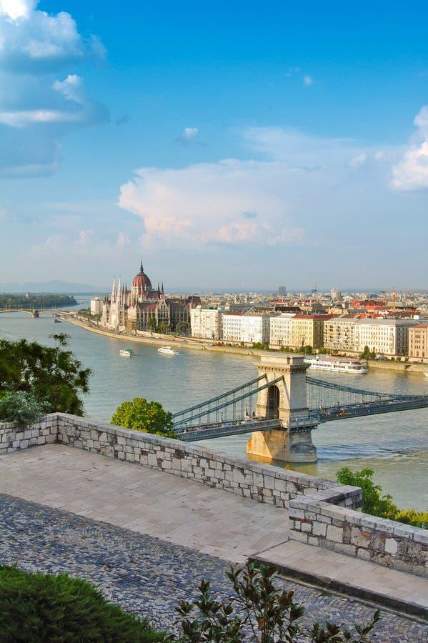 Vista Panorámica De Budapest Imagen de archivo
