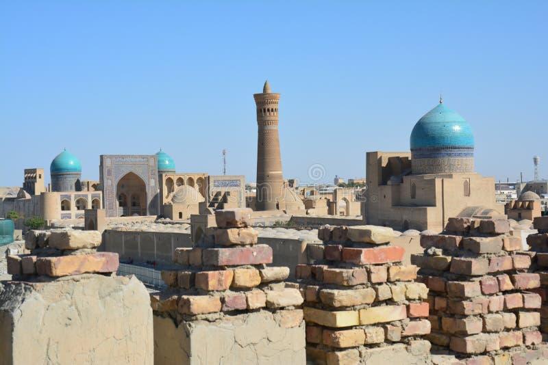 Vista panorámica de Bukhara Uzbekistán Asia Central fotografía de archivo libre de regalías