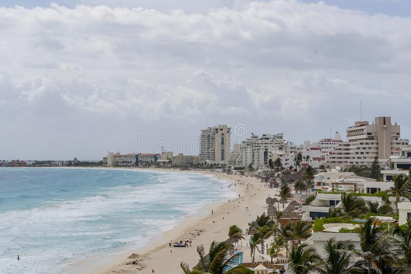 Vista panorámica de Cancun hermoso México fotografía de archivo libre de regalías
