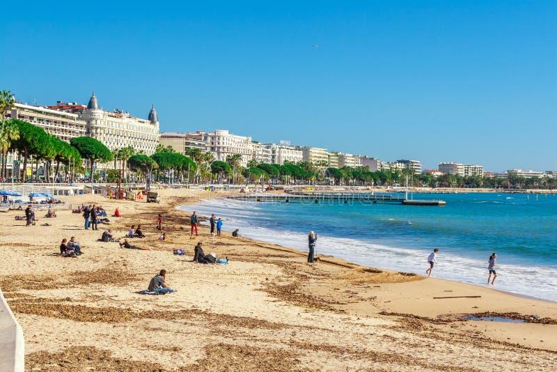 Vista panorámica de Cannes, Francia fotos de archivo
