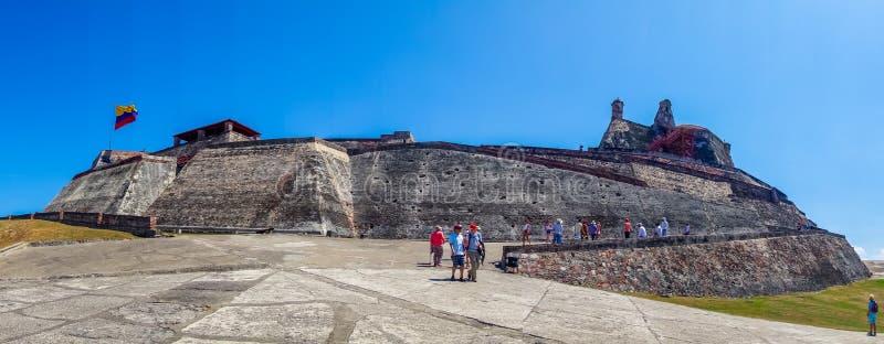 Vista panorámica de Castillo San Felipe Barajas fotografía de archivo libre de regalías
