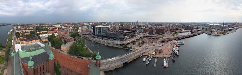 Vista panorámica de Estocolmo imagenes de archivo