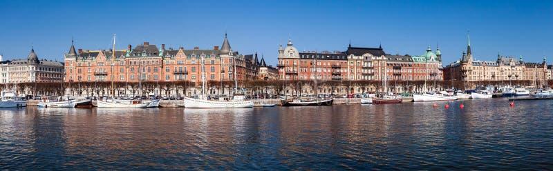 Vista panorámica de Estocolmo, Suecia foto de archivo libre de regalías