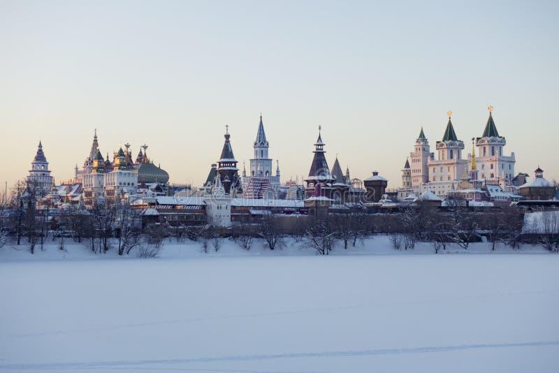 Vista panor?mica de Izmailovo el Kremlin en Mosc?, Rusia fotos de archivo libres de regalías