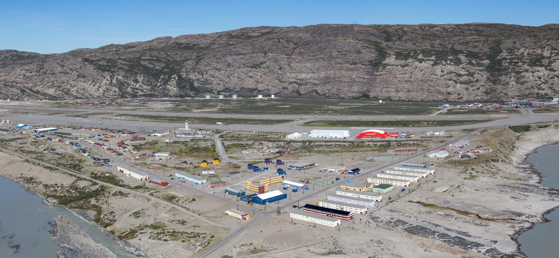 Vista panorámica de Kangerlussuaq, Groenlandia fotografía de archivo libre de regalías