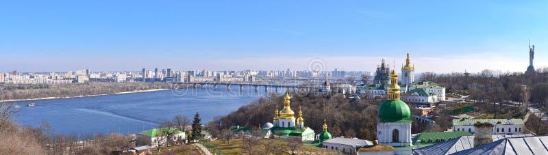 Vista panorámica de Kyiv foto de archivo