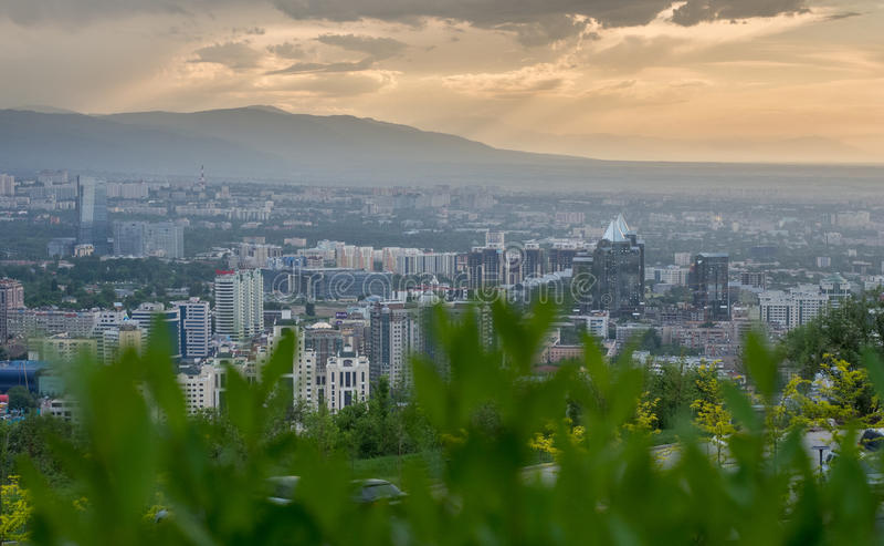 Vista panorámica de la ciudad foto de archivo