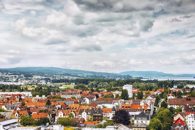 Vista panorámica de la ciudad de Constanza de Munster Región de Baden-wurttemberg alemania imagen de archivo