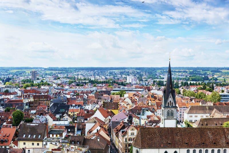 Vista panorámica de la ciudad de Constanza de Munster Región de Baden-wurttemberg alemania foto de archivo libre de regalías