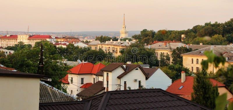 Vista panorámica de la ciudad histórica, Sevastopol, Crimea fotografía de archivo