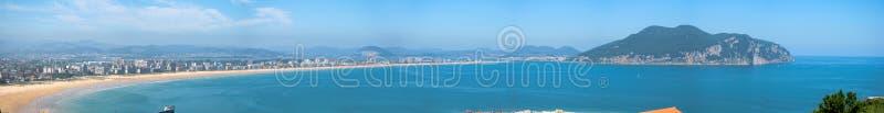 Vista panorámica de la playa de Salve de Laredo, 2008 imágenes de archivo libres de regalías