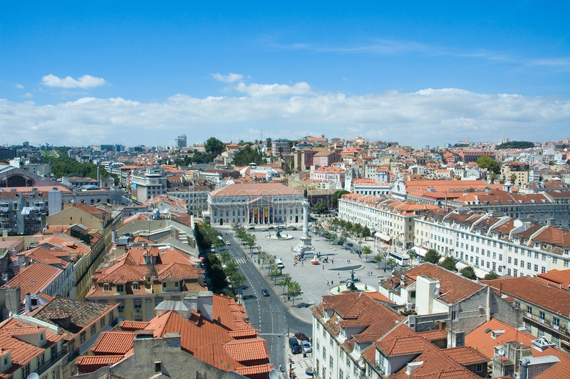 Vista panorámica de Lisboa fotos de archivo libres de regalías