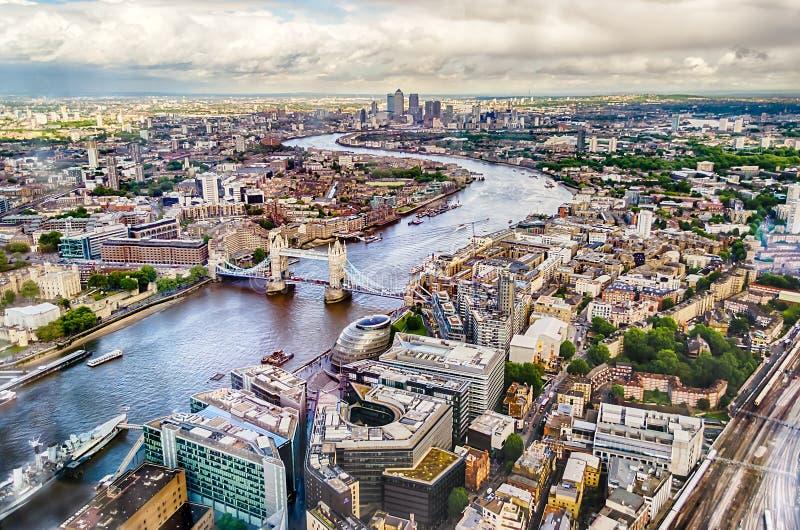 Vista panorámica de Londres imagen de archivo