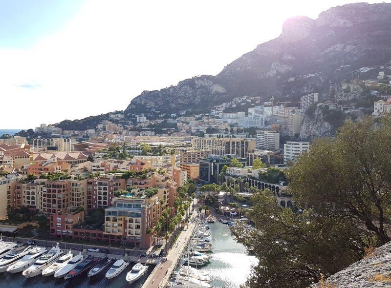 Vista panorámica de Mónaco, Europa fotografía de archivo