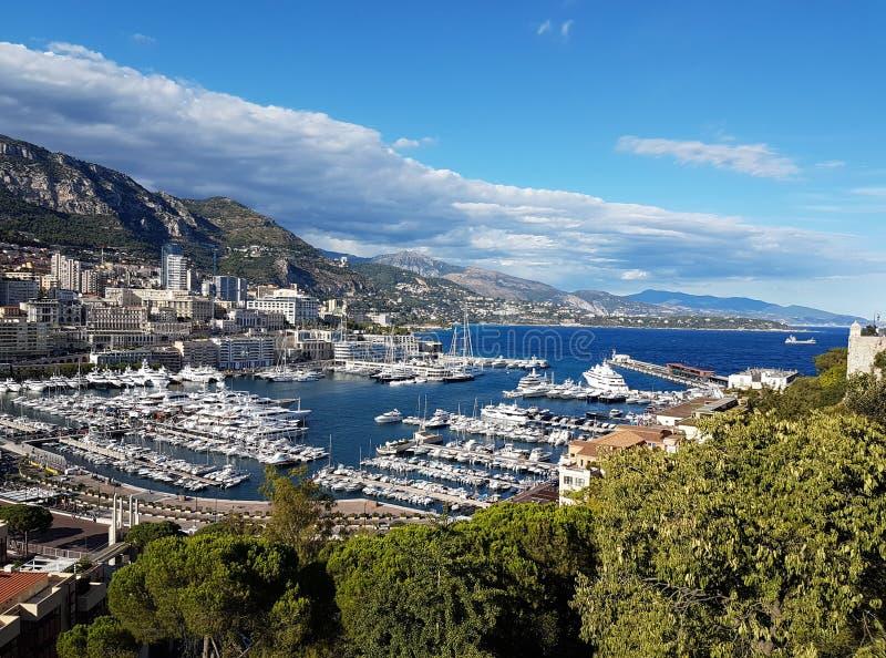 Vista panorámica de Mónaco, Europa imagen de archivo libre de regalías