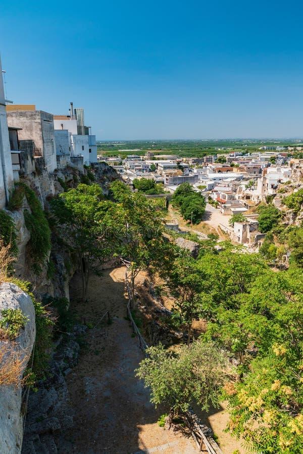 Vista panorámica de Massafra Puglia Italia fotografía de archivo libre de regalías