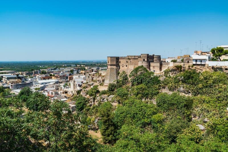 Vista panorámica de Massafra Puglia Italia foto de archivo