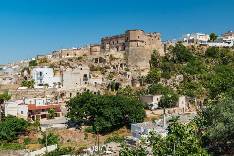 Vista panorámica de Massafra Puglia Italia fotos de archivo libres de regalías