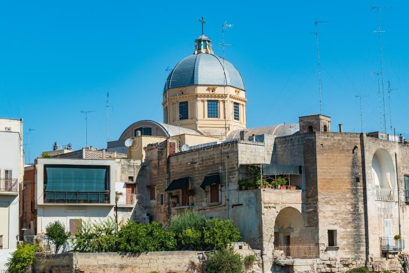 Vista panorámica de Massafra Puglia Italia imagenes de archivo