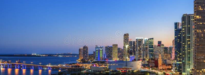 Vista panorámica de Miami fotografía de archivo