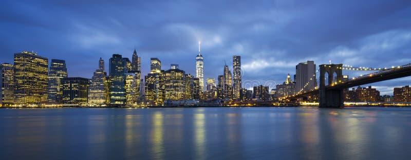 Vista panorámica de New York City imagen de archivo libre de regalías