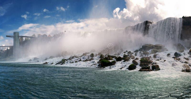 Vista panorámica de Niagara Falls fotografía de archivo